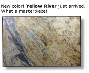 New color! Yellow River just arrived. 